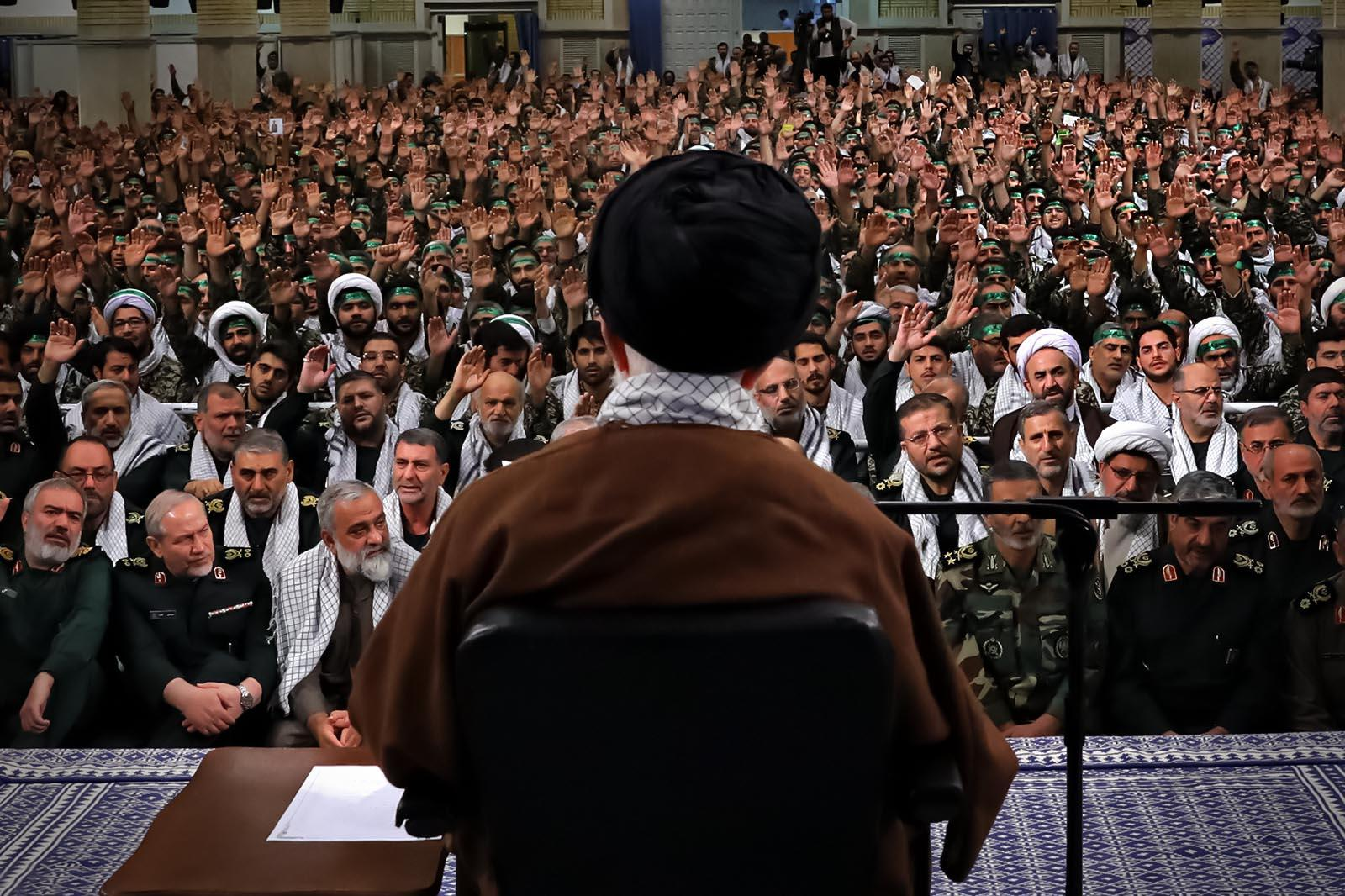 Basij commanders and forces met with Ayatollah Khamenei